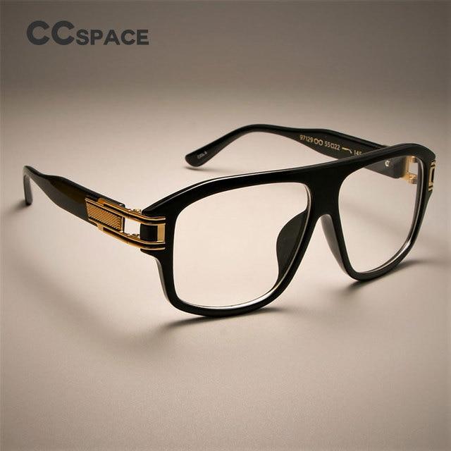 CCSPACE Oversized Retro Square Glasses Frames Men Women Hand Made ...