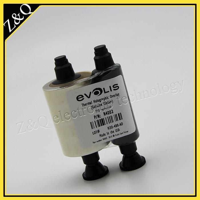 orijinal Evolis R4002 holoqrafik örtüklü lak lent - id kart - Ofis elektronikası - Fotoqrafiya 2