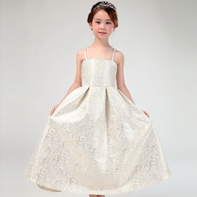 Latest Eropean Style Long Flower Girl Dresses Fancy Princess Formal Vestidos 2017 Girls Clothes For 4