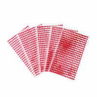 5 sätze/beutel 5mm spielzeug Aufkleber Acryl kristall Streifen Aufkleber rot Strass Selbstklebende Wand Möbel dekoration Wohnung aufkleber