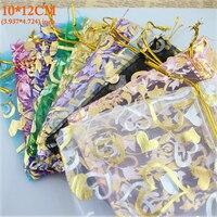 Organza Bag Packaging Bags Wedding Gift Bags100pcs Pack Random Mix Drawable Organza Pouches10x12cm Bolsas De Organza