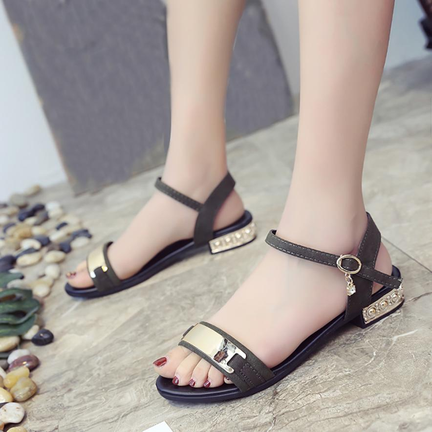 cde28584d541 MUQGEW 2018 Women s Summer Sandals Shoes New Fashion Shoes Peep toe Low  Shoes Roman Sandals Fashion Footwear For Ladies sandalia-in Low Heels from  Shoes on ...