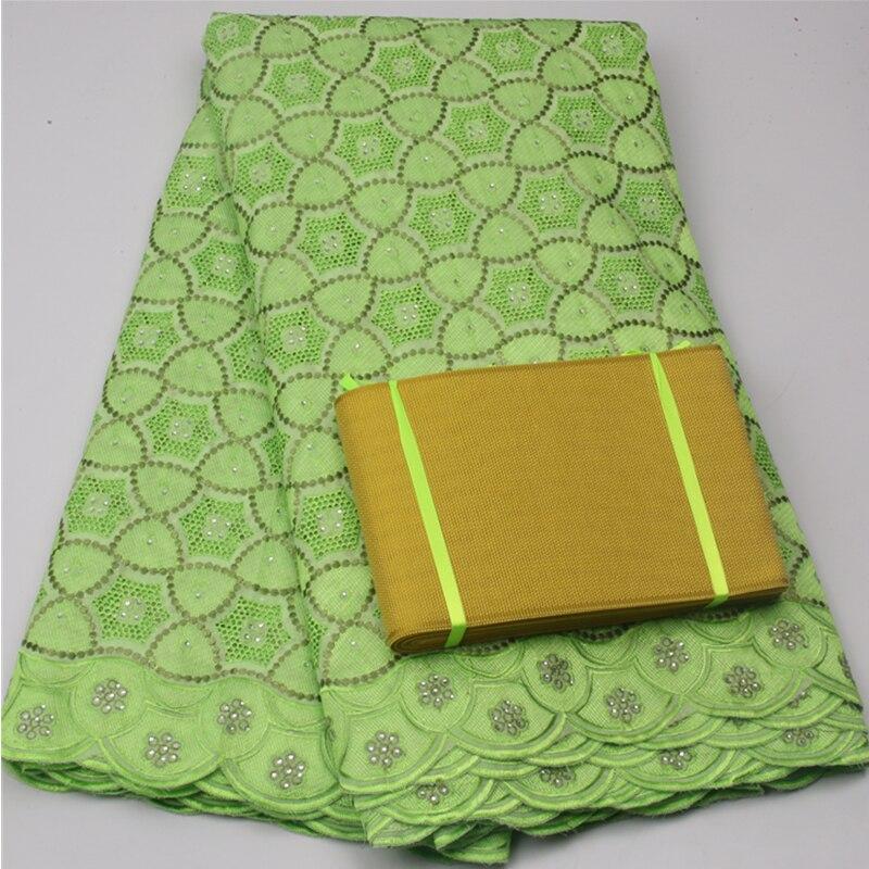 Citron vert haute qualité africain suisse voile dentelle correspondant aso oke headtie/luxe tissu pour robe de mariée dentelle tissu XY504B