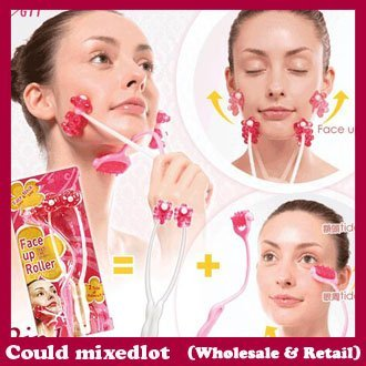 2014 2 In 1 Chin Facial Skin Face Up Roller Massager Slimming 23*9CM free shipping
