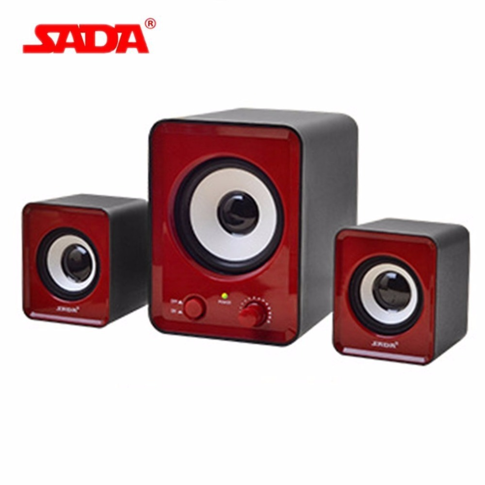 SADA 3D Surround Subwoofer Stereo Bass USB PC Speaker Computer Smart Phone Speakers for Laptop Notebook