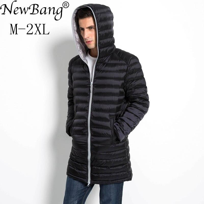 NewBang Brand Long White   Down     Coat   Male Feather Parka Man Ultra Light   Down   Jacket Men Lightweight Outdoors Winter Jacket