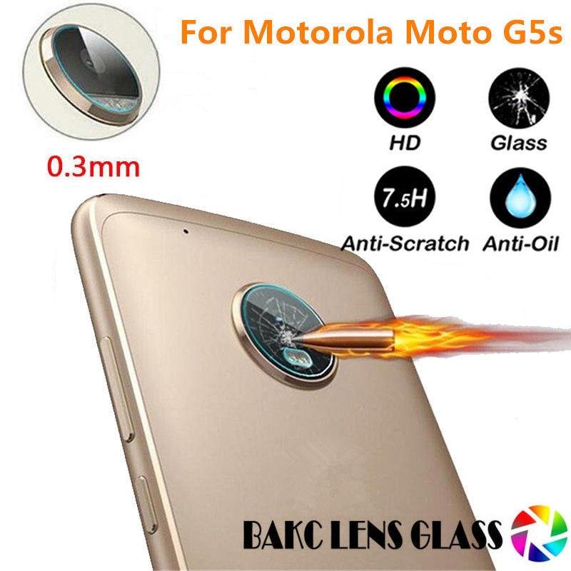 NOTOW flexible Rear Transparent Back Camera Lens Tempered Glass Film Protector Case For Motorola Moto G5s
