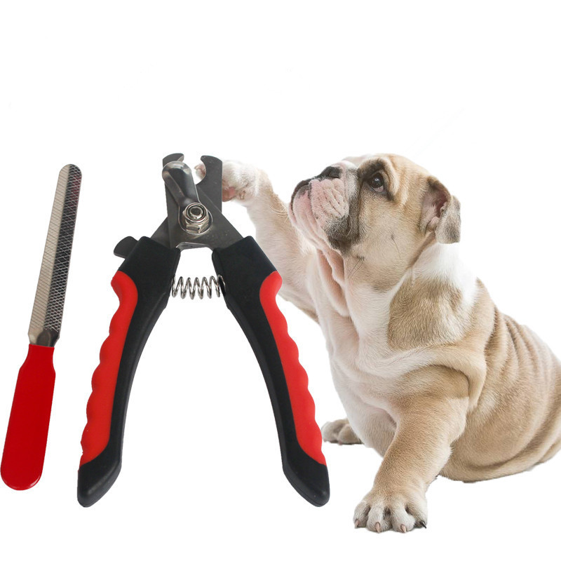 New Dog Cat Pet Nail Safety Cutter Tool Claws Scissor Cut Product Stainless Steel Pet Dog Cat Nail Toe File Trimmer Clipper image