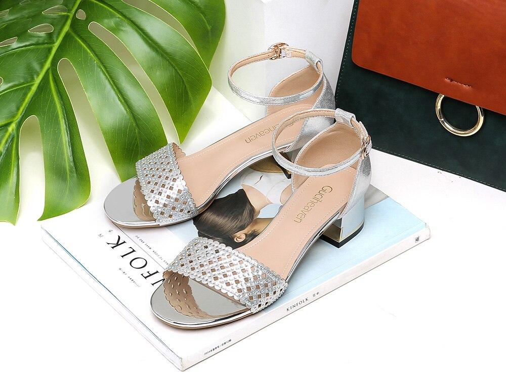 Guciheaven 2019 Mesh Peeper Toe Sandals Women Fish Head Bowl Sexy Hollow Shoes Matrue High Thick