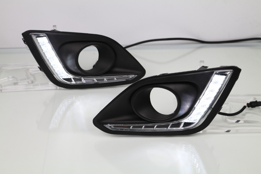 Фотография led drl daytime running light for SUZUKI SWIFT 2014-15, 2pcs, with dimmer function, top quality