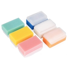 Baby Bath Sponge (6 Pieces) Soft Foam Washer with Cradle Cap Brush Body,Hair and Scalp Clean Gentle Sensory Sp