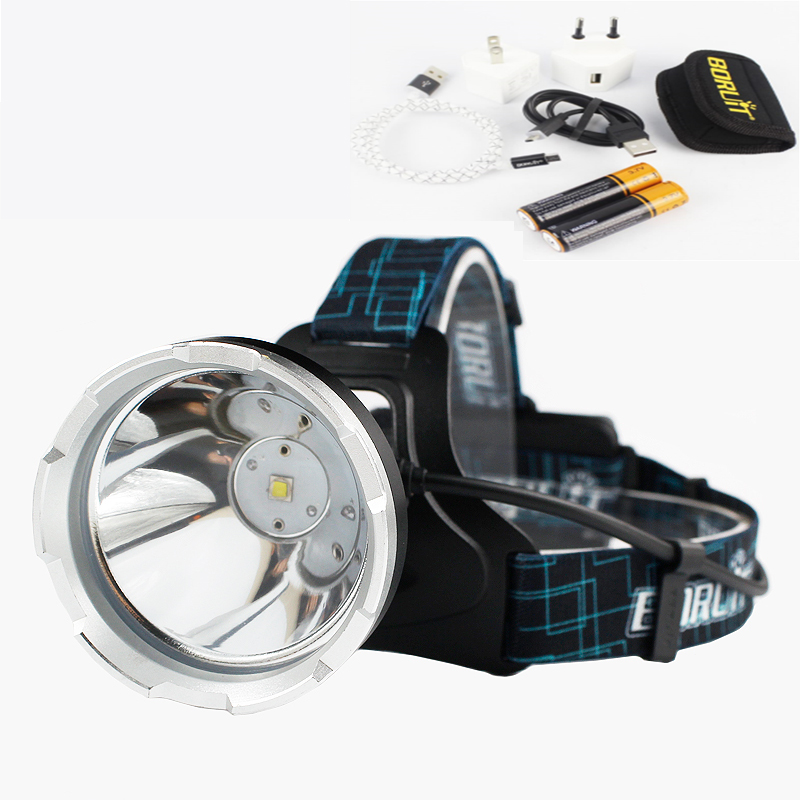 Headlamp B10 XM-L2 LED Zoom 3-Mode Headlight Flashlight Waterproof Head Torch Perfect for Hunting Fishing Camping with Batteries yage headlight led flashlight fishing light head lamp for hunting mini touch 2 mode switch convenient specialized outdoor lamp