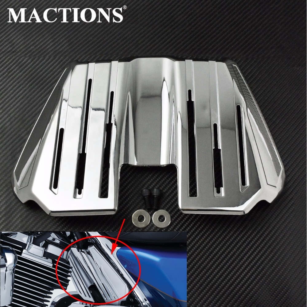 Motorcycle Chrome Spark Plug Wire Cover For Harley Touring Road King Street Glide Electra Glide Ultra
