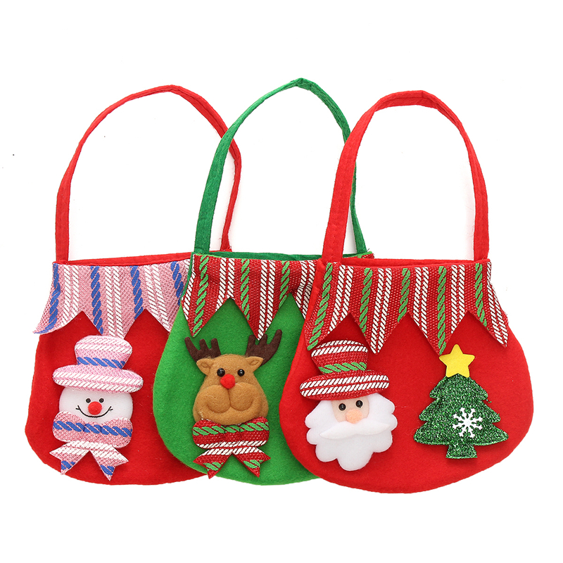 1 Pcs Festive party pizza candy bag Snow christmas gift bag