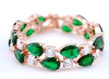 Emmaya – Bracelets de luxe en Zircon pour femmes, couleur Rose, blanc, or, Mona Lisa, multicolore, bleu, vert, cubique, cadeau de mariage
