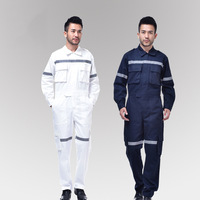 Men's Working Coveralls Long sleeved Cotton Reflective Safety Work Clothes Workwear Coveralls For Workmen Repairman Engineer