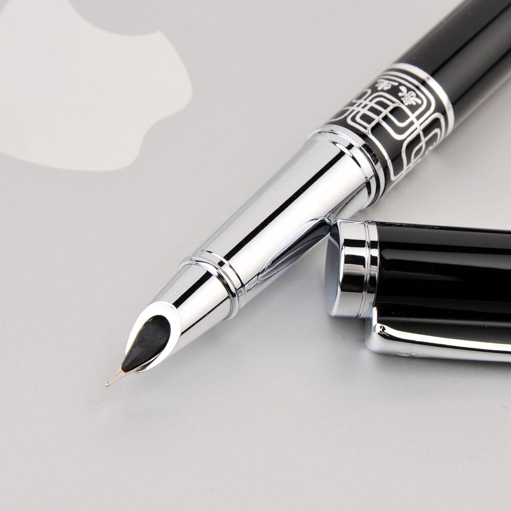 Wingsung Extra Fine Pennino 0.38mm Penna Stilografica per la Finanza di Lusso Metallo Penne A Inchiostro Forniture Per Ufficio Materiale Scolastico Regalo Di Compleanno