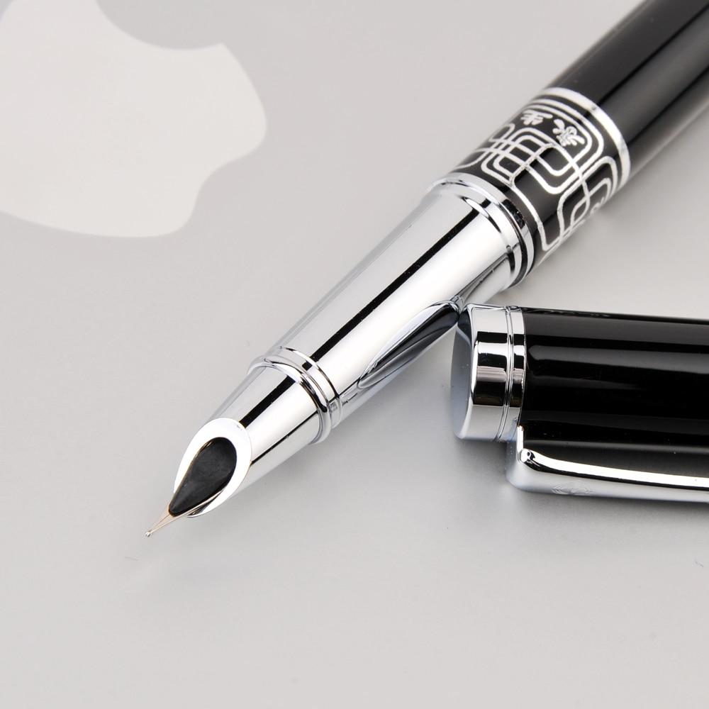 Wingsung Extra Fine Nib 0.38mm Fountain Pen for Finance Luxury Metal Ink Pens Office Supplies School Supplies Birthday Gift