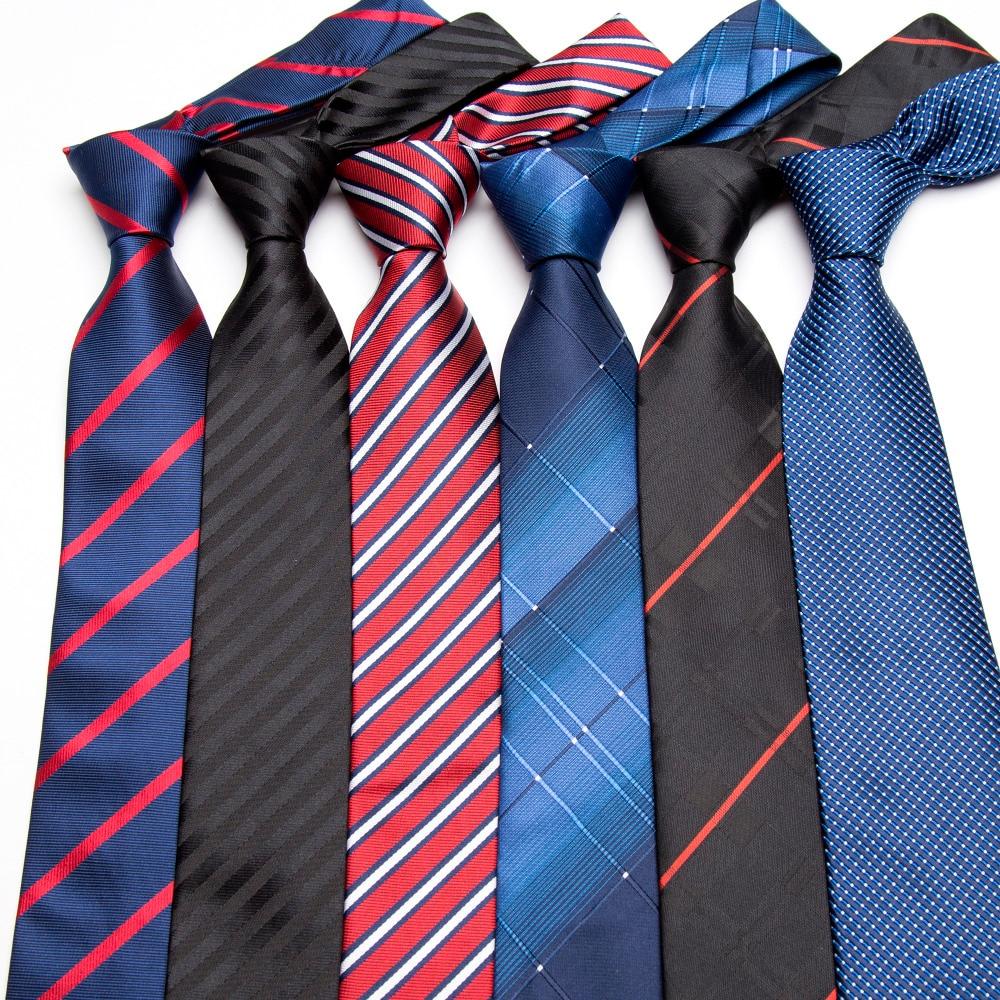 Men's Tie Formal Business Vestidos Wedding Classic  Stripe Grid 8cm Corbatas Fashion Shirt Dress Accessories