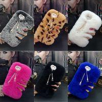 XINGDUO Heißer Luxus Echtem Kaninchenfell Furry Warm Winter Bling Soft case abdeckung für iphone 7 7 plus 6 6 s plus 5 5 s se 4 4 S