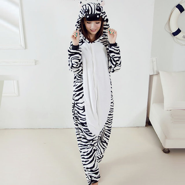 Cartoon Pigiama Sleepwear Costume Per Unisex New Animal Adult Zebra BqfgpnESw