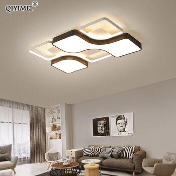 Moderno LED luz de techo cuerpo blanco y negro para sala de estar dormitorio comedor luz de techo acrílica Luminaire