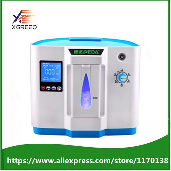 New 90% hospital use medical portable oxygen concentrator generator home with adjustable 1-6LPM adjustable oxygen purity medical oxygen concentrator for respiratory diseases 110v 220v oxygen generator copd oxygen supplying machine