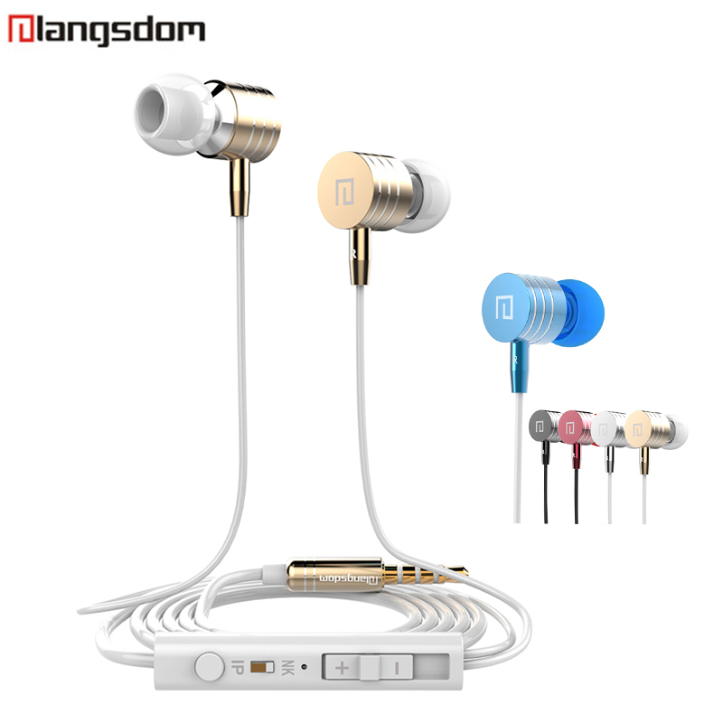 Original Langsdom i-7 In-Ear Earphone Metal Earphone Stereo super Bass with Microphone for iphone 6s xiaomi redmi Hifi earphone langsdom a10 super bass in ear earphone hifi music earplugs metal headset with mic general for phone iphone xiaomi sony pc mp3