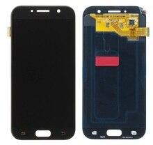 """מקורי 5.2 """"סופר AMOLED LCD עבור סמסונג גלקסי A5 2017 תצוגת מסך מגע Digitizer A520 A520F SM A520F החלפת חלקים"""