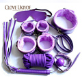 7 Pcs Sex Bondage Kit Sexy Product Set Hand Cuffs Footcuff Whip Rope Blindfold Couples Erotic Toys Adult Games Toys