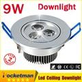 1pcs 9W Ceiling downlight Epistar LED ceiling lamp Recessed Spot light 85V-245V for home illumination Brand Wholesale