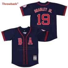 Throwback Jersey Men's Boston Jersey 19 Bradley Jr.  Baseball Jerseys Colour Red White Grey Green Blue Free Shipping цена