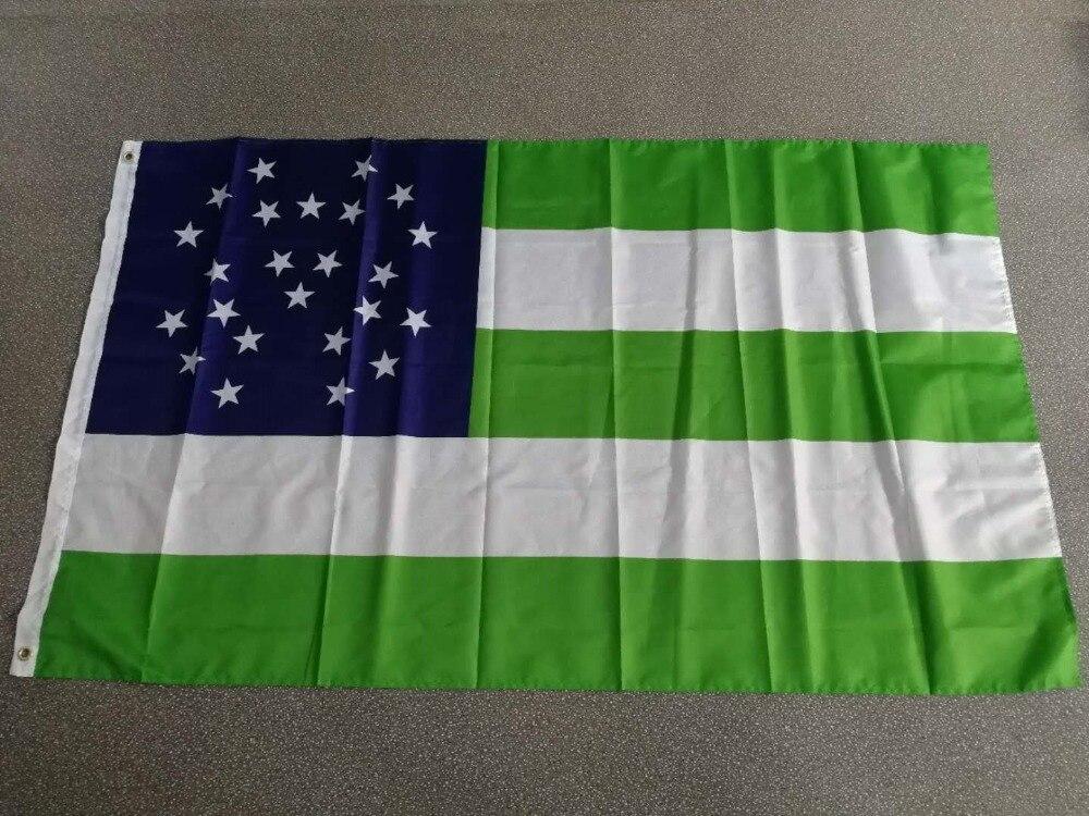 Johnin 90x150cm ee.uu. nuevo de ee.uu. ciudad de York Departamento de Policía Bandera de NYPD Blanco verde azul 3 colores piedras plata Color juegos de joyas para mujer COLLAR COLGANTE pendientes anillos EEUU tamaño caja de regalo gratis