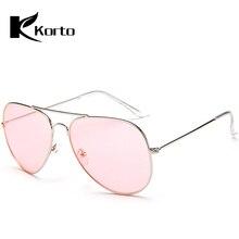 882e810f89 Gafas de sol de moda para las mujeres amarillo Rosa chica sol gafas de  protección de la aviación tonos señora Gunes Gozlugu gafa.
