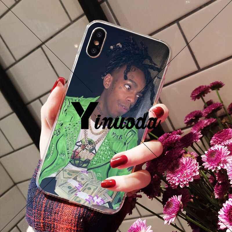 Yinuoda Ynw Melly Rapper TPU Mềm Dẻo Silicone Trong Suốt Điện Thoại Dành Cho iPhone X XS Max 6 6 S 7 7plus 8 8Plus 5 5S SE XR