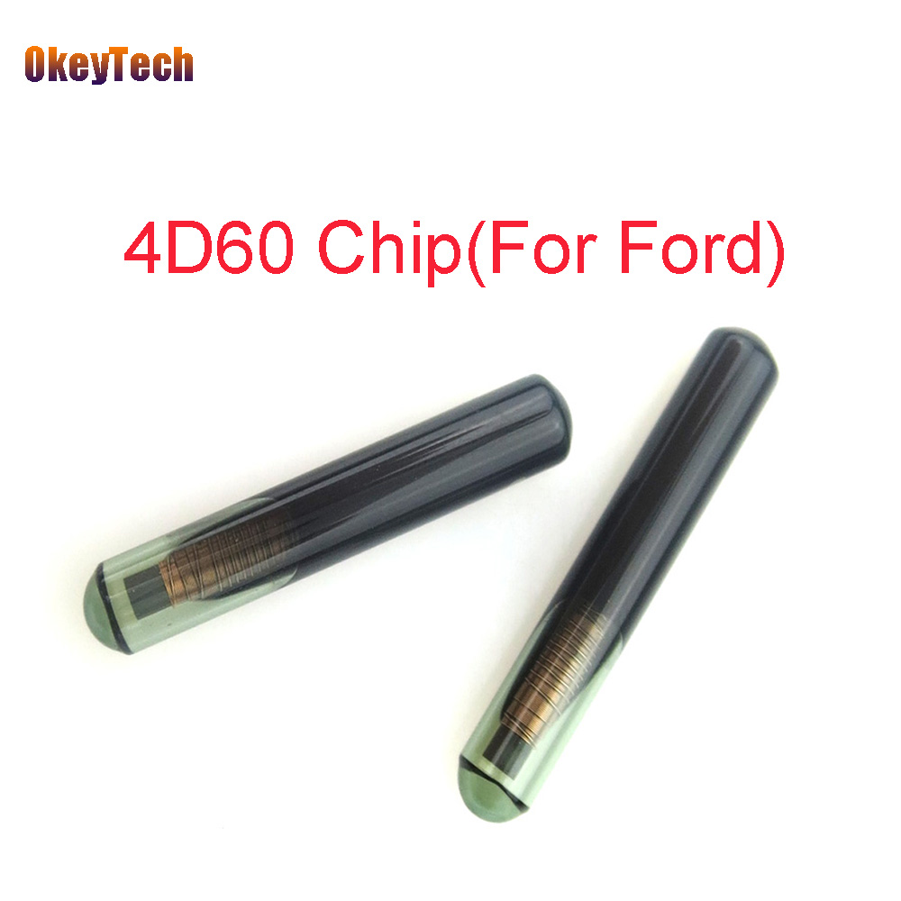 OkeyTech 1pcs/lot Car Key Chip Blank 4D60 Glassy Transponder Key Chip for Ford Connect Fiesta Focus Ka Mondeo ID 4D60 Auto Parts okeytech 10pcs lot best car key chip t5 id20 ceramic for car key transponder key id t5 transponder chip copy to id 11 12 13 33