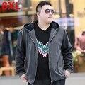 XXL con capucha sudaderas con capucha de gran tamaño busto masculino 150 7XL 8XL grasa con fertilizantes aumentó outerwears caliente de Gran tamaño masculina
