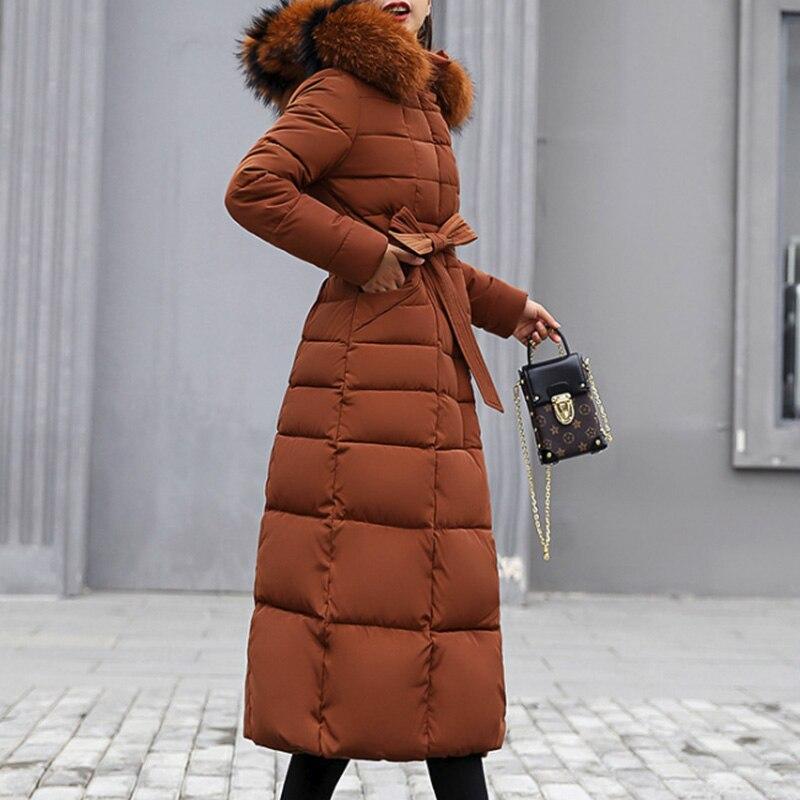 Bella Philosophy 2019 Winter New Coat Jacket long Fashion Jacket Women Thick Down   Parka   female Slim Fur Collar Warm Cotton Coat