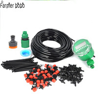 25m Garden DIY Micro Drip Irrigation System Plant Self Automatic Watering Timer Garden Hose Kits With