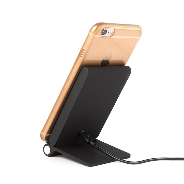 Qi 3 Coils Wireless Charger Pad Folding Charging Stand Dock Station for Samsung Galaxy S6 S7 Edge Plus Note 5 Lg G3 Phone Charge