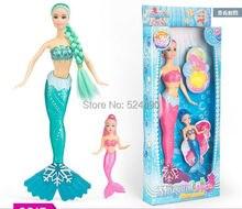 Русалка принцесса кукла Set / 2015 новинка зеленый и розовый и синие цвета детские игрушки для барби девочек подарок на день рождения
