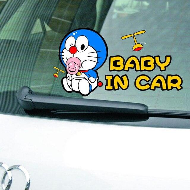 Cartone animato doraemon bambino in auto adesivi di avvertimento