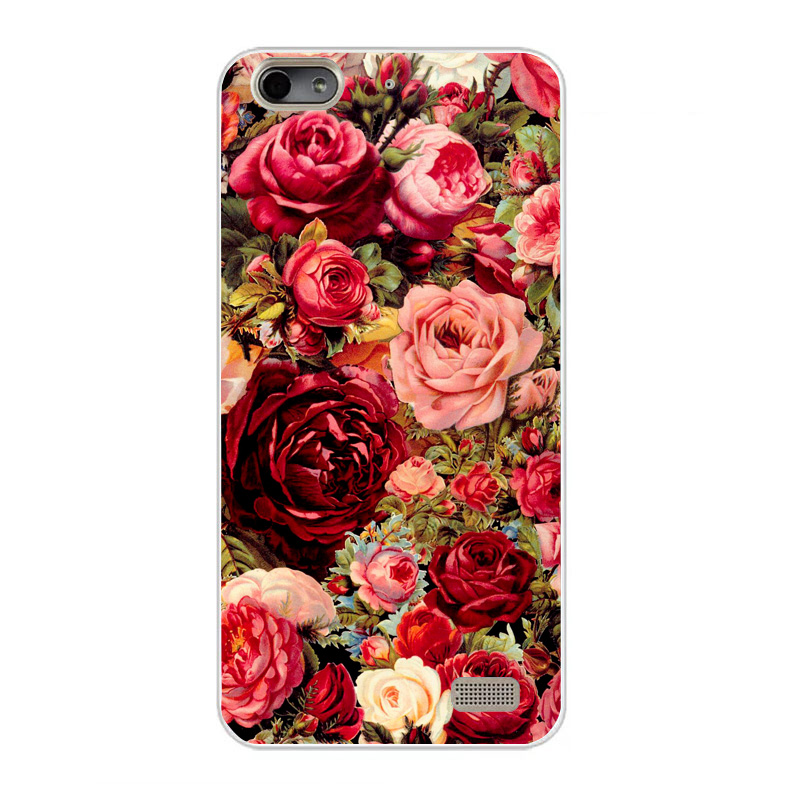 Case For Huawei Honor 4C Case Mickey Flower Pattern Silicone Cover Soft TPU Coque For Huawei Honor 4C Fundas Case