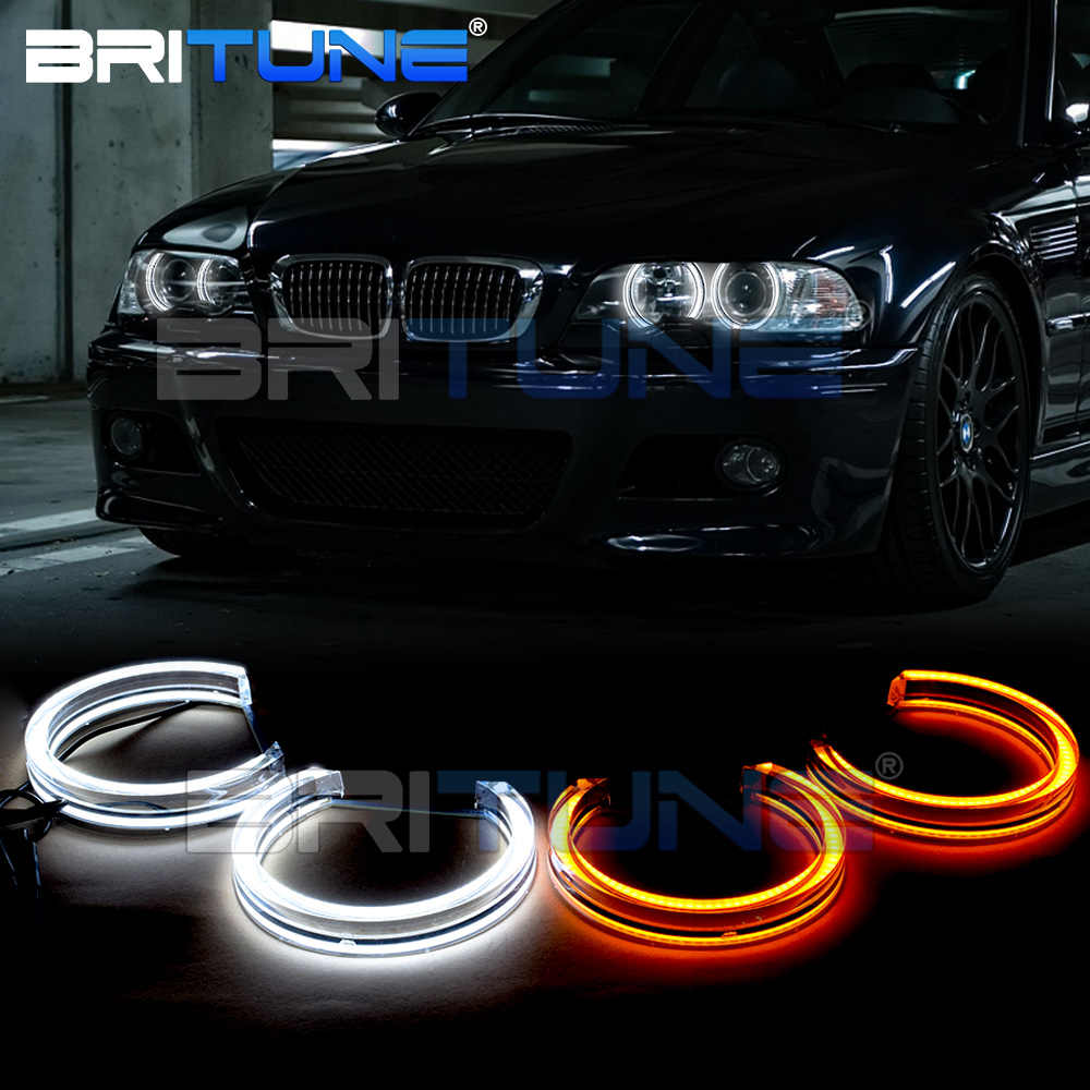 Led Angel Eyes Drl Halo Lights Dtm Style For Bmw 3 Series E46 M3 E39