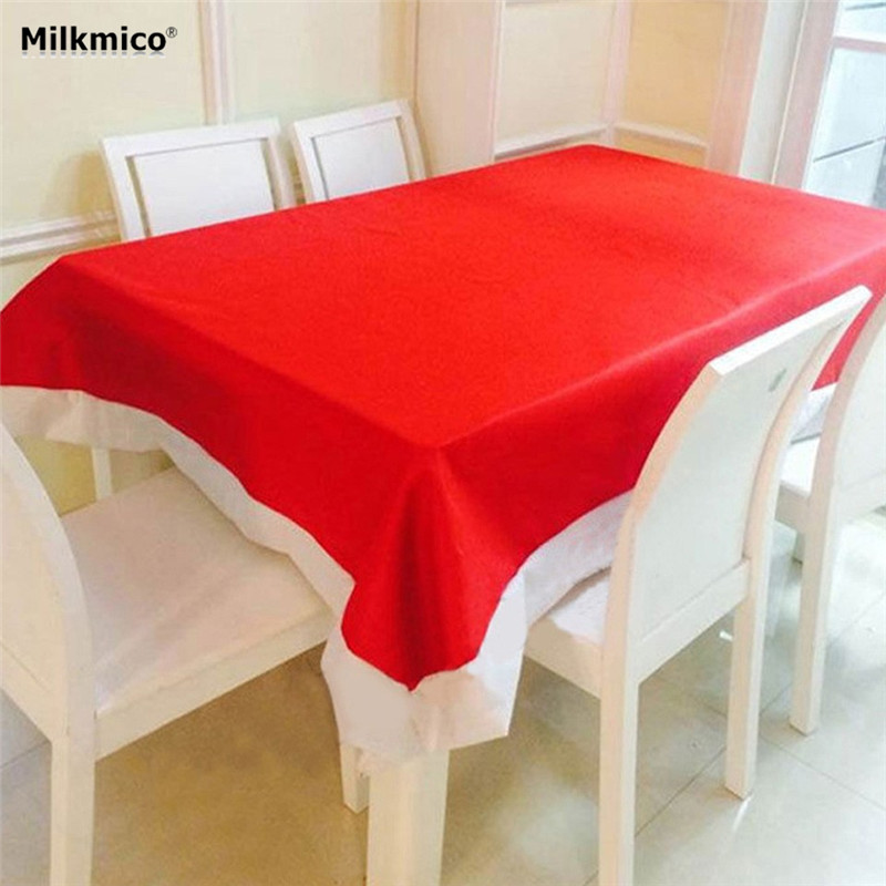 132 * 208 Cm Super Long Christmas Tablecloth Christmas Red Table Cloth Hot Sale 2017 New Merry Christmas Decorations Xmas Decor