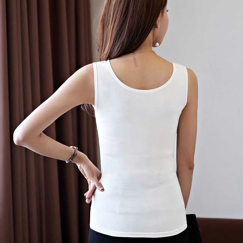 Été élégant femmes col en v Slim moulante Modal réservoir hauts dame sans manches court solide T-Shirt Camis t-shirts haut pour fête dentelle décor