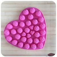 DUH Spécial en gros amour petit rose mots d'amour silicon Chocolat Moules 30 dans 1 trou gâteau moules