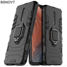 For OPPO Reno Z Case Magnetic Hard Phone Finger Ring Holder Anti-knock Cover Funda BSNOVT