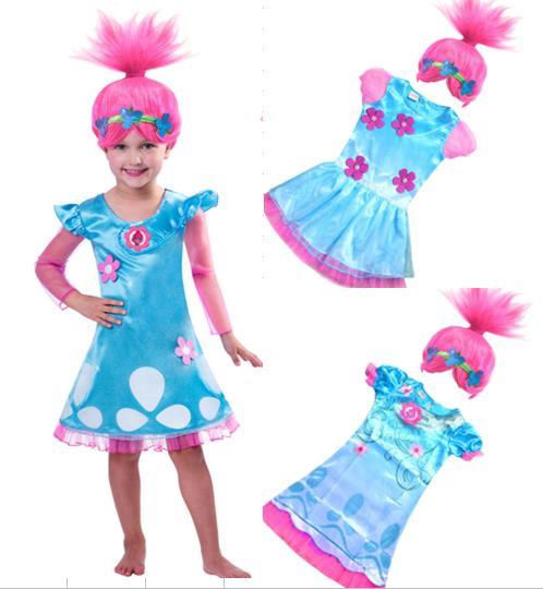 c0a0475ff3f3 2017 Vestiti di Carnevale Per Bambini Per Le Ragazze Papavero Party Dress  Bambino Abbigliamento Abito + Accessori Per Capelli in 2017 Vestiti di  Carnevale ...