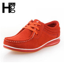 HEE GRAND Printemps Automne Femmes Chaussures En Cuir Vintage Carré Toe Lace-up Plate-Forme Casual Plat Mocassins Chaussures XWC1062